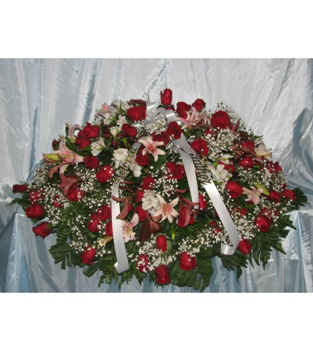 Red Rose with Oriental Orchids  GF-CC4