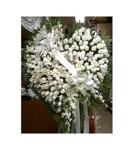 Heart of White Roses  GF-H13