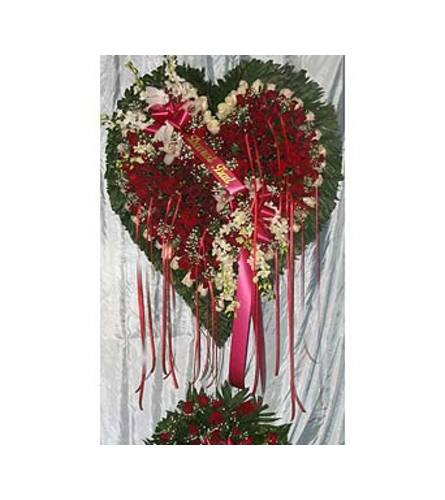 Bleeding Heart - Red Roses, White Lillies  GF-H6