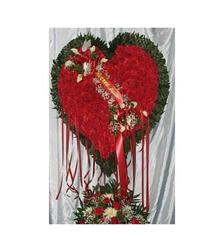 Bleeding Heart Red Carnations  GF-H1