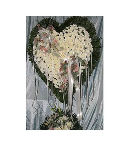 Bleeding Heart White Carnations  GF-H5