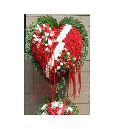 Broken Heart with White Carnation Break  GF-H4