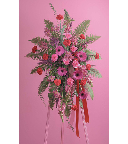 Fuchsia and Red Standing Spray  SF55-31