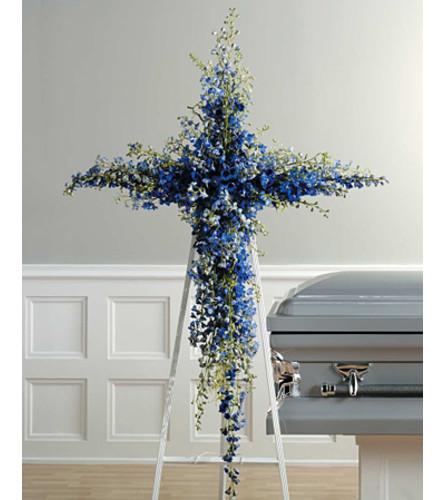 Blue Delphinium Cross  SF26-21