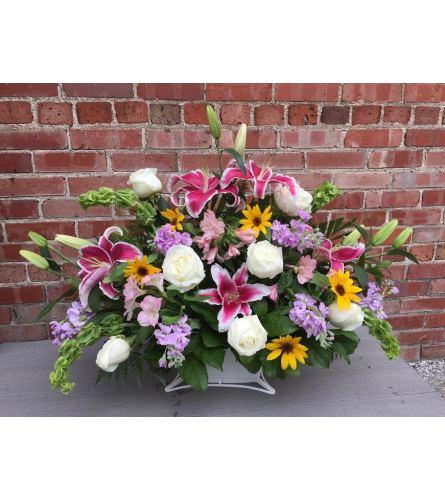 Funeral Basket  - Spring Mix