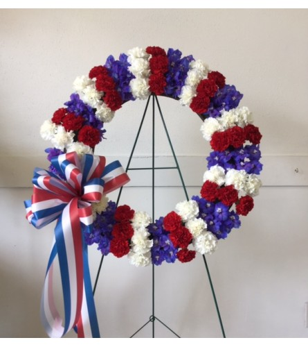 Patriotic Sympathy Wreath