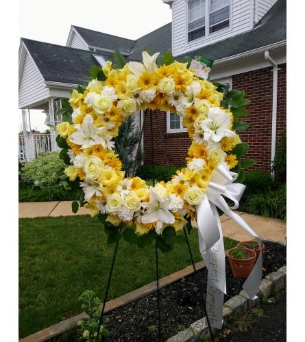 Golden Life Wreath