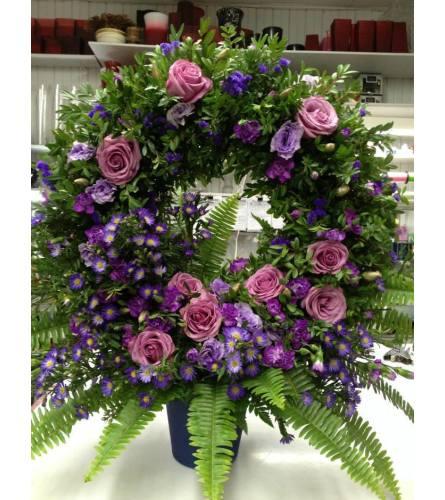 Purple write basket
