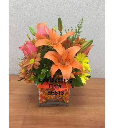 Candy Corn Floral Arrangement