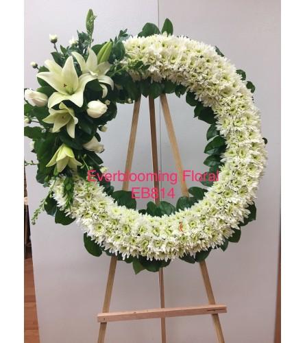 White Serenity Wreath