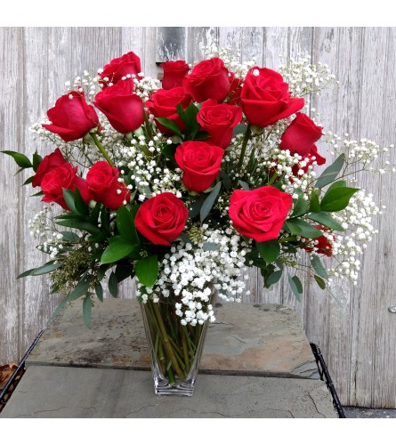 2 DOZEN RED ROSES ARRANGED