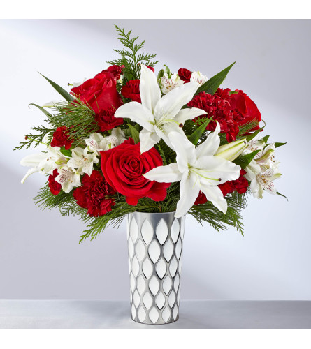 The FTD® Holiday Elegance™ Bouquet with lilies