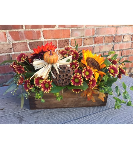 Fall Centerpiece-Rustic Woods