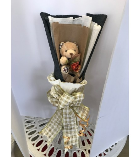 Single teddy bear bouquet