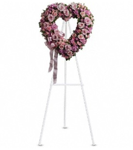 Rose Garden Heart - by Jennifer's Flowers