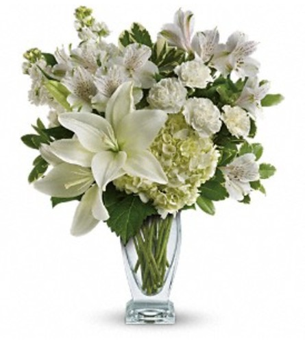 Purest Love Bouquet - by Jennifer's Flowers