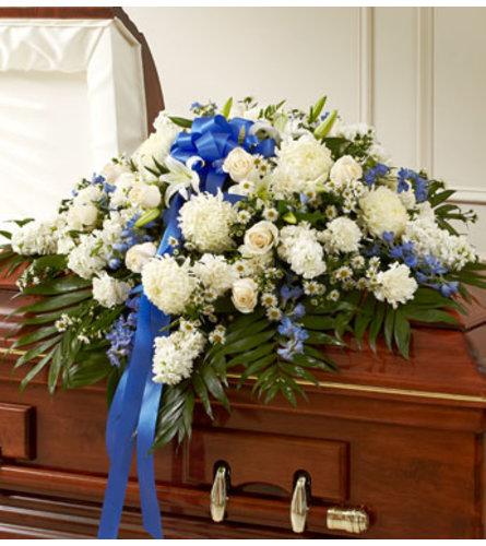 Blue & White Casket Spary