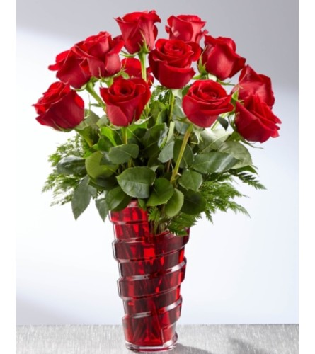 Dozen Red Vased