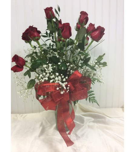 Showey Long stem Red Roses