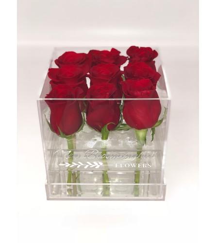 Acrylic Box with premium Roses