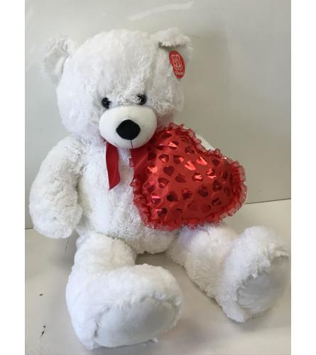 Heart white Teddy Bear