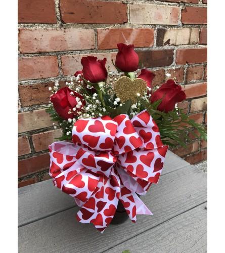Valentine's Half Dozen Roses