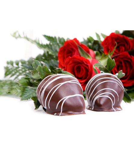 Cupids Combo w/ Choc. Strawberries