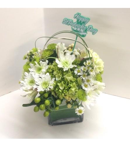 Luck of the Irish Cube Vase