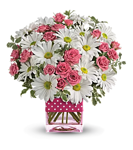 Teleflora - Polka Dots and Posies Bqt