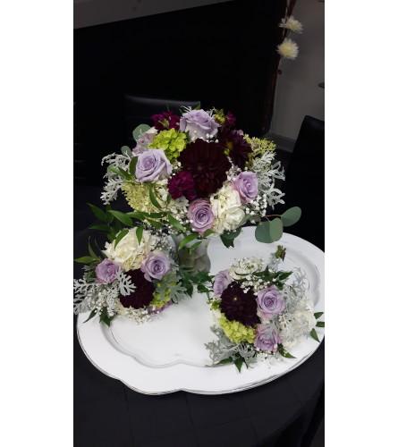 Purple beauty bridal