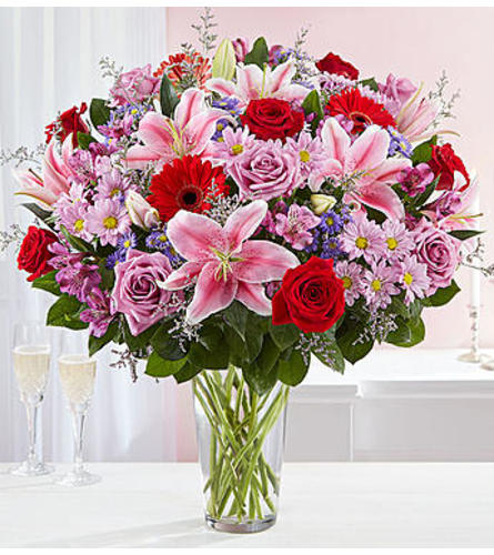 The Adoring Love Bouquet In Vase