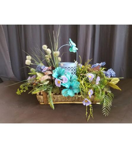 Garden Basket Pretty Periwinkle