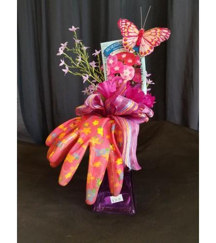 Garden Basket Purple Glove Vase
