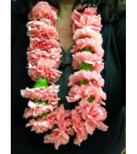 double pink carnation lei