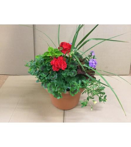 Outdoor Patio Pot--English Garden