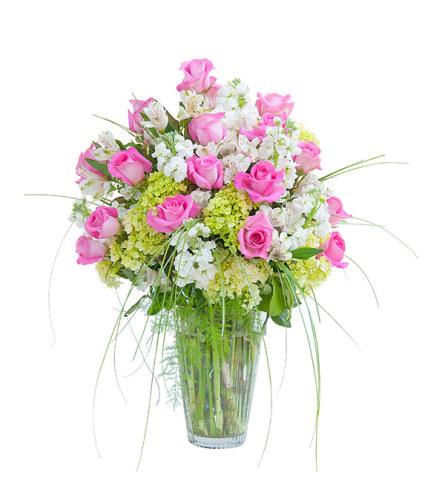 Pink & White Elegance Vase
