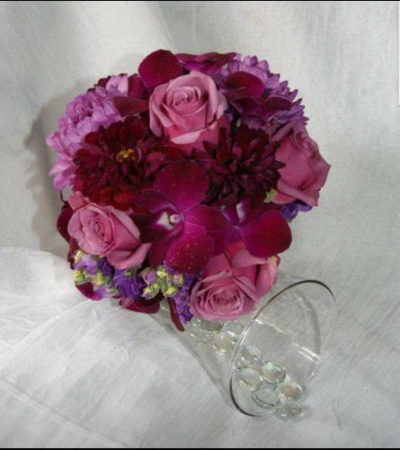 Purple Passion Wedding Bouquet