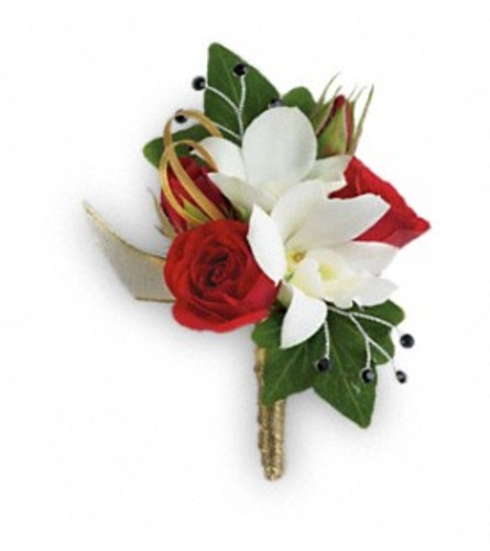 Star Studded Bold Boutonniere