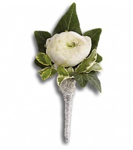 Ranunculus White Boutonniere