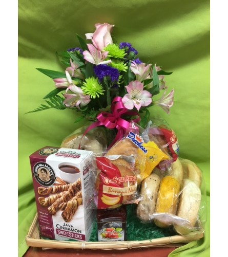 Bagels and Buds Basket