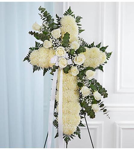 Peace & Prayers™ Standing Cross- White