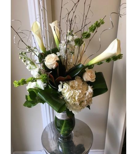 Modern vase arrangement