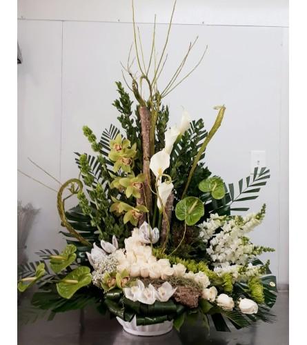 Large Modern Funeral Design