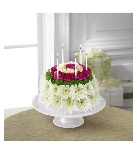 Wonderful Wish Floral Cake