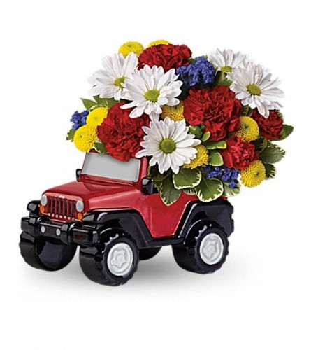 CERAMIC JEEP ARRANGEMENT