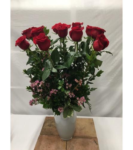 Premium Long Stem Dozen Roses