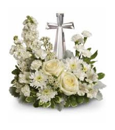 teleflora precious petals cross bouquet