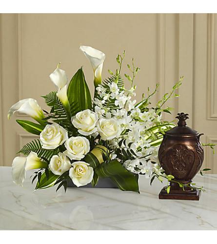 White Urn Arrangement