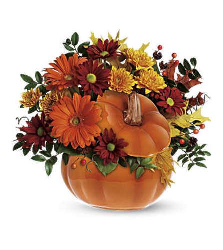 Fall Blooms Pumpkin