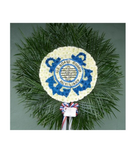 CUSTOM COAST GUARD AUXILIARY BAND EMBLEM